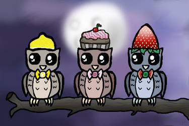 Owls With Hats by SpookyMuffin4545