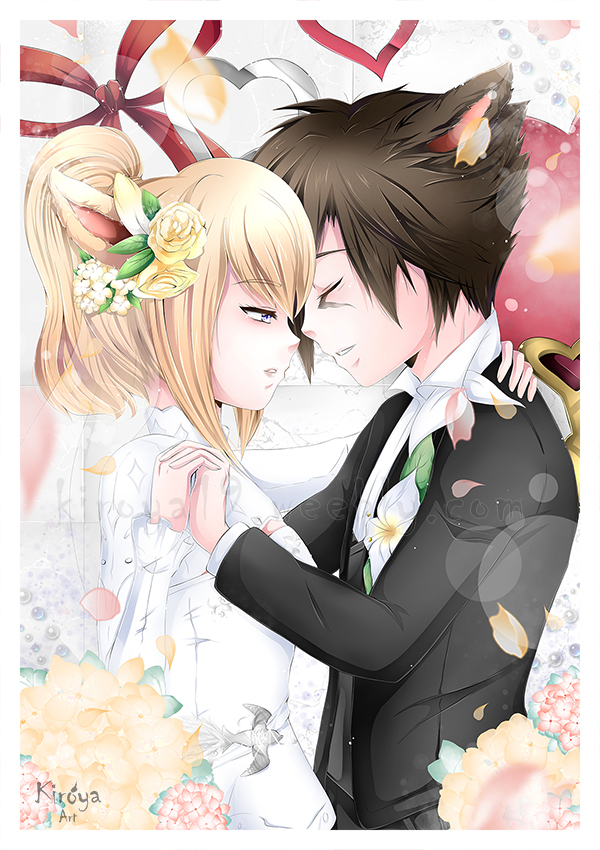 Miqo's in Love by Kiroya19
