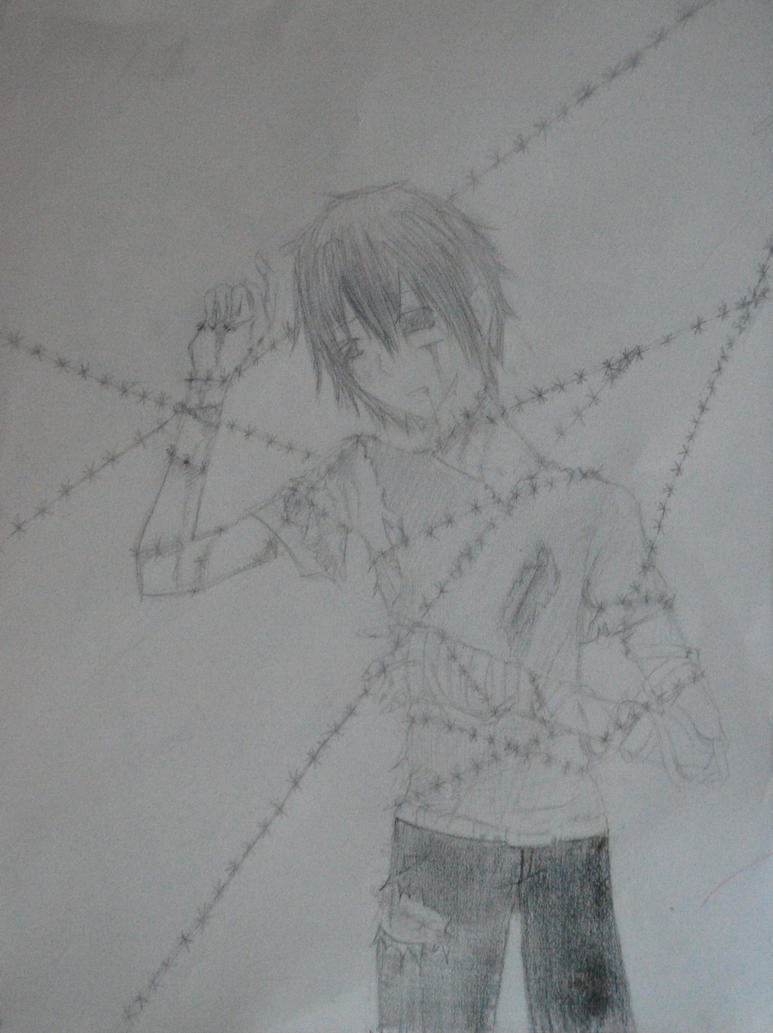 Barb wire sketch by simplelie on deviantart