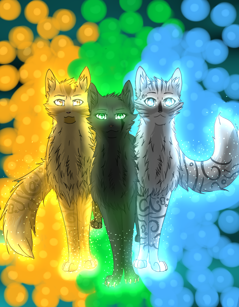 Warrior cats power of three by lovelysheepx3 on deviantart The three cats