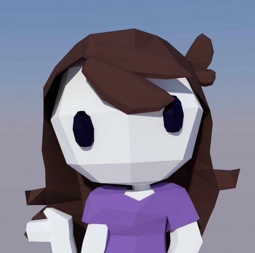 Jaiden Animations (Low Poly) by epicboy511