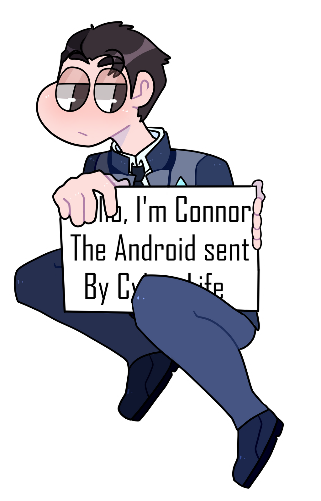 DBH Connor Pagedoll by OkamiGekido