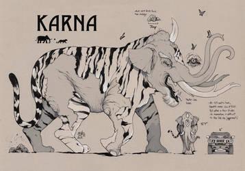 KARNA Concept Art (Savage Game) by ChrisBMurray