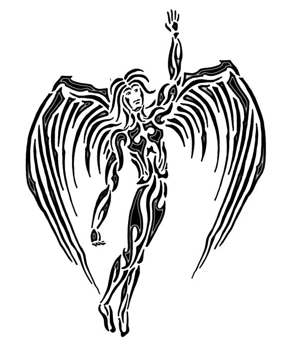 Tribal Angel Tattoos