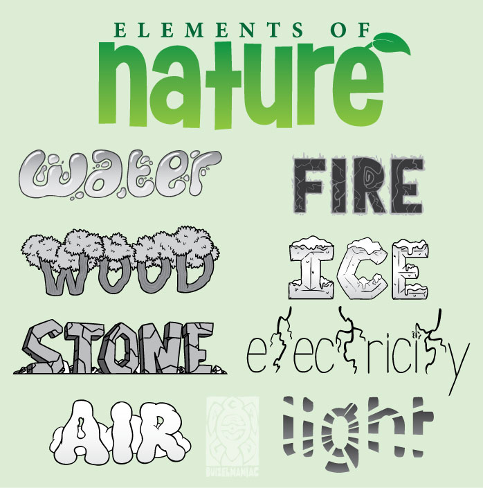 What Are The Six Main Elements Of Art : Elements of nature by buizelmaniac on deviantart