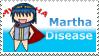 Martha Disease Stamp by FlareTornado