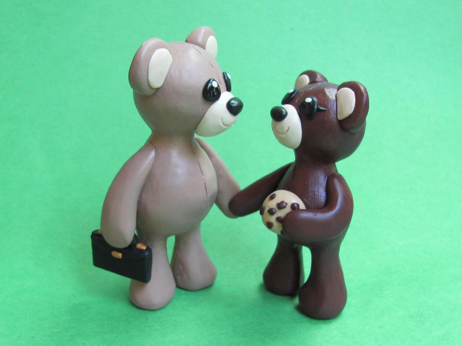 Teddy Bear Couple by DragonsAndBeasties