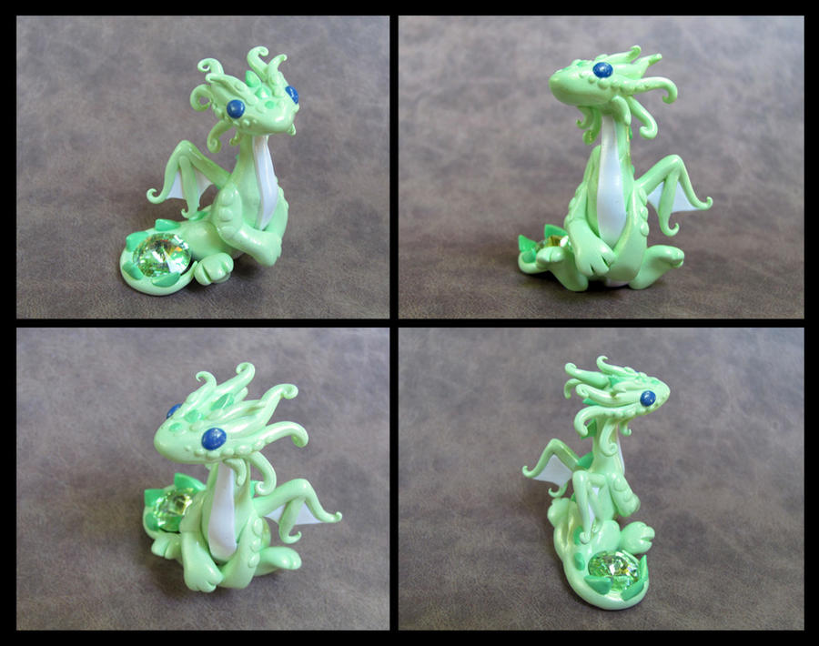 Peridot Green Dragon by DragonsAndBeasties