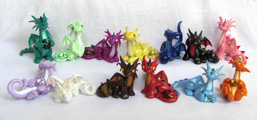 Gem Dragon Series by DragonsAndBeasties