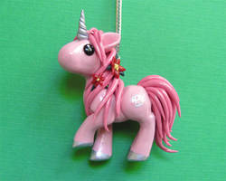 Christmas Unicorn Ornament by DragonsAndBeasties