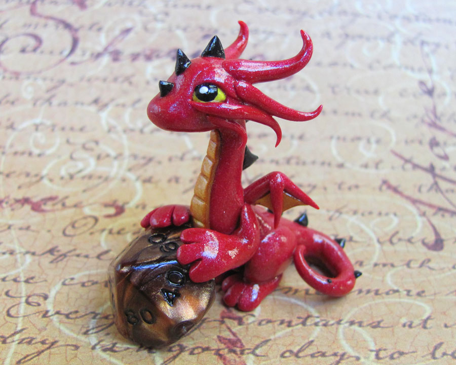Red Dice Dragon by DragonsAndBeasties