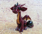 Red Dragon with Orb