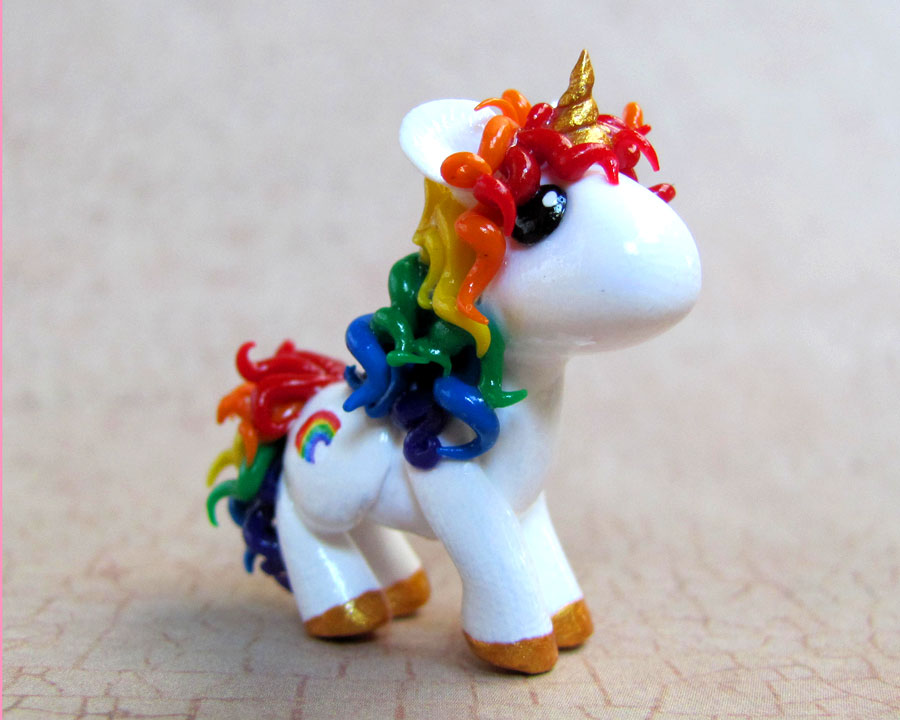 Custom Rainbow Unicorn by DragonsAndBeasties