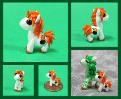 Mischief the Leprechaun Pony by DragonsAndBeasties