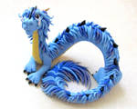 Blue Oriental Dragon