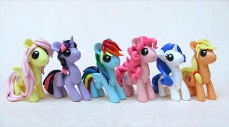 My Little Ponies by DragonsAndBeasties