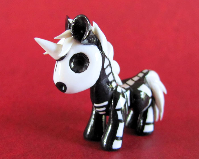 Grim the Skelington Pony by DragonsAndBeasties