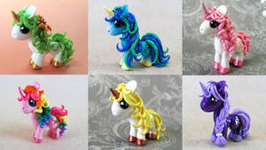 Custom Ponies by DragonsAndBeasties