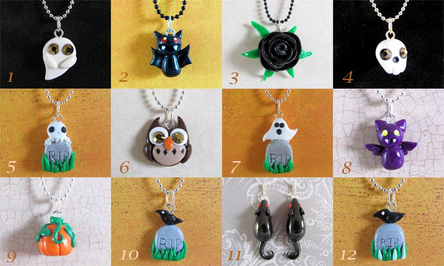 Halloween Jewelry by DragonsAndBeasties