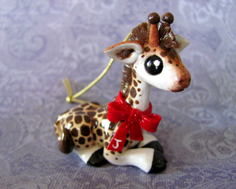 Giraffe Christmas Ornament by DragonsAndBeasties on DeviantArt