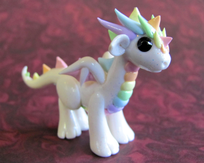 Pastel Rainbow Dragon by DragonsAndBeasties