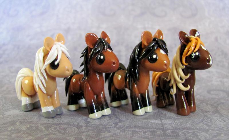 4 Lovely Little Horses by DragonsAndBeasties