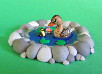 Little Duck Pond by DragonsAndBeasties