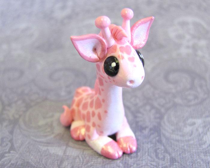 Pink Giraffe by DragonsAndBeasties