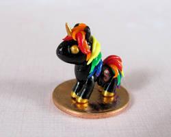 Micro Rainbow Unicorn by DragonsAndBeasties