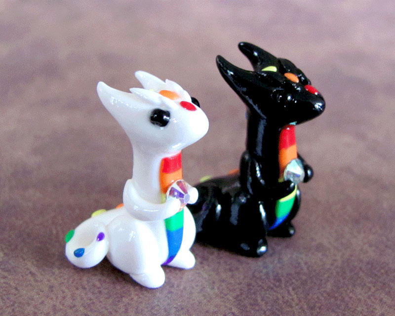 Black and White Rainbow Minis by DragonsAndBeasties