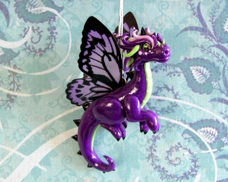 Purple Butterfly Dragon by DragonsAndBeasties