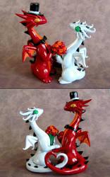 Dragon Wedding Cake Topper by DragonsAndBeasties