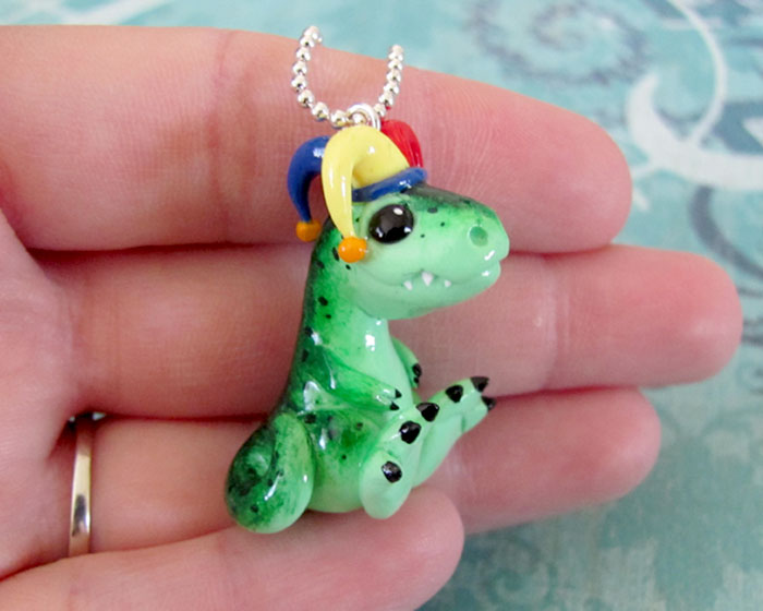 T-rex Jester by DragonsAndBeasties