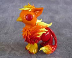 Fire Gryphon by DragonsAndBeasties