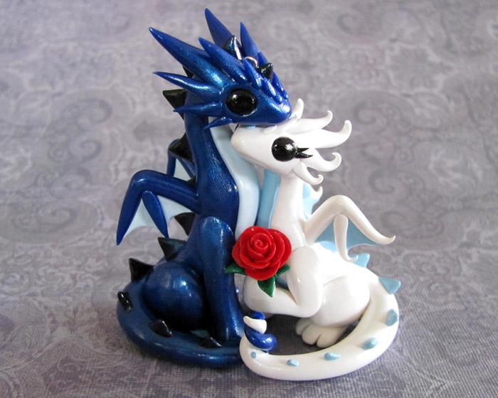 Dragon Couple Ornament by DragonsAndBeasties