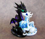 Black and White Dragon Topper by DragonsAndBeasties