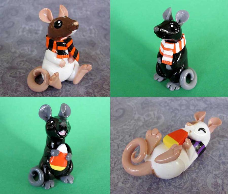 Halloween Rats by DragonsAndBeasties
