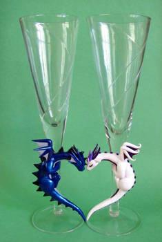 Dragon Wedding Flutes