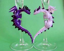 Purple Dragon Flutes Close Up by DragonsAndBeasties