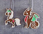 Gingerbread Ornaments by DragonsAndBeasties