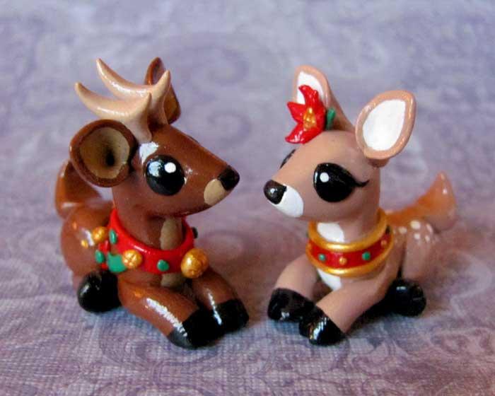 Reindeer Couple by DragonsAndBeasties