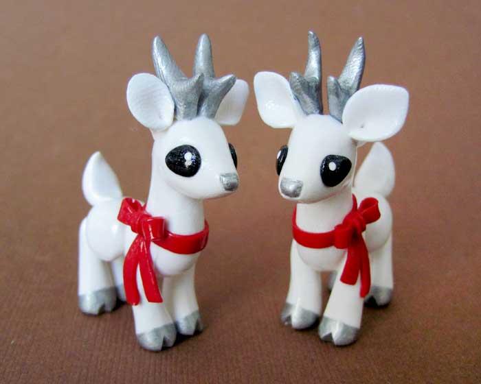 Winter Deer by DragonsAndBeasties