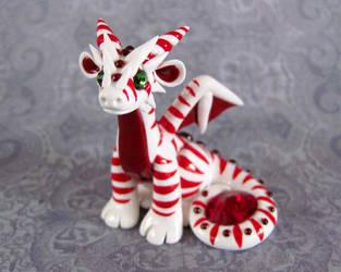 Candycane Dragon by DragonsAndBeasties