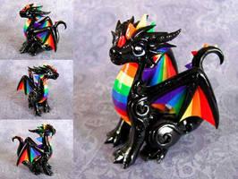 Rainbow Dragon by DragonsAndBeasties