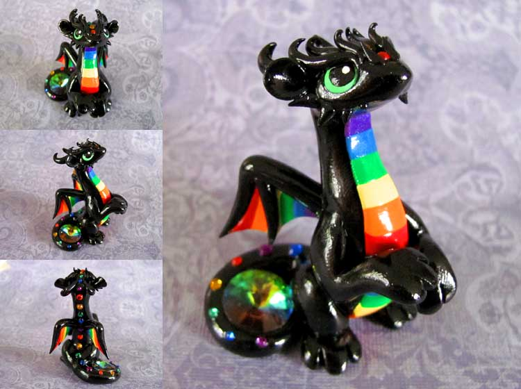 Rainbow Dragon 3 by DragonsAndBeasties