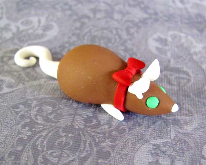 Gingerbread Rat Magnet by DragonsAndBeasties