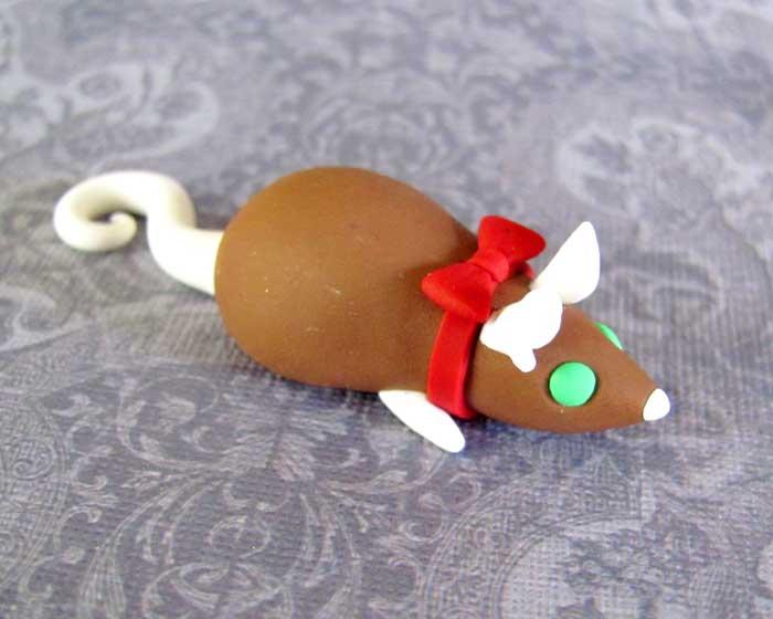 Gingerbread Rat Magnet by DragonsAndBeasties