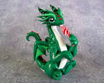 Green Dragon with Candycane