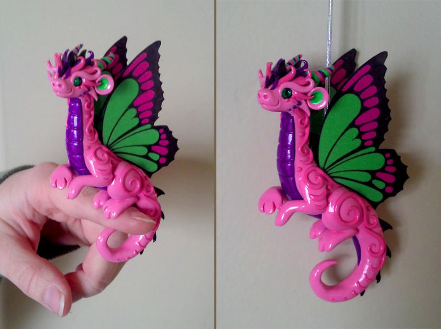 Pink Butterfly Dragon by DragonsAndBeasties