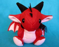 Red Dragon Plushie by DragonsAndBeasties